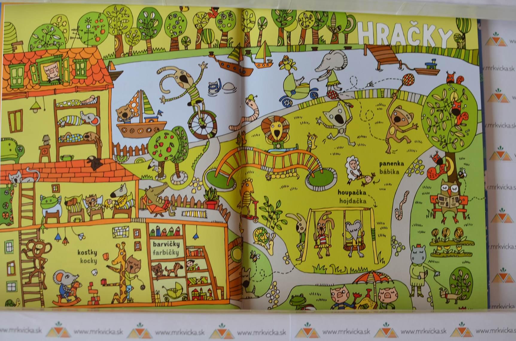 Jak velbloud potkal ťavu – Česko-slovenský obrázkový slovník zákeřných slov pro děti – kniha + pexeso