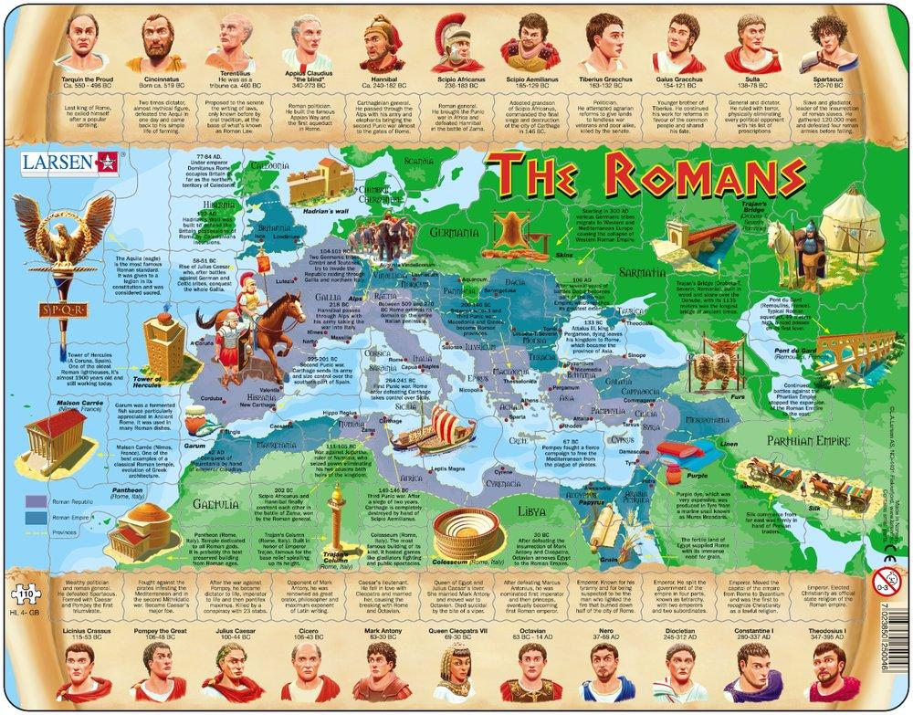 Dejepis – Staroveký Rím a jeho história, Rímska ríša – Náučné obrázkové puzzle