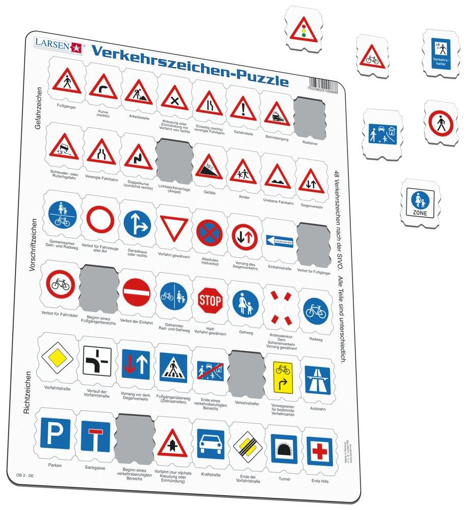 Dopravná výchova – poznávaj dopravné značky – Náučné puzzle