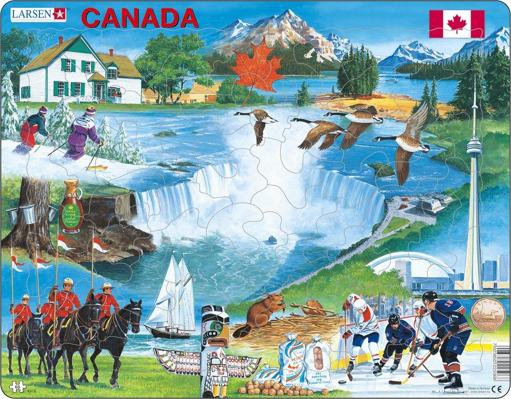 Turistické atrakcie – Kanada a jej atrakcie, Kanadské historické pamiatky a zaujímavosti – Obrázkové puzzle