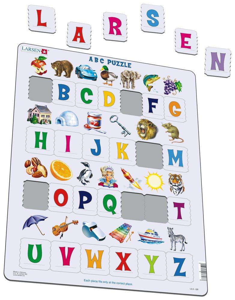 Abeceda – veľké písmená abecedy s obrázkami – Puzzle učíme sa písmenká