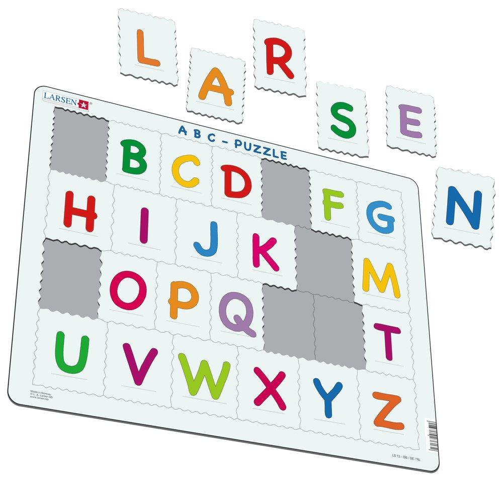 Abeceda – veľké tlačené písmená abecedy – Puzzle učíme sa písmenká