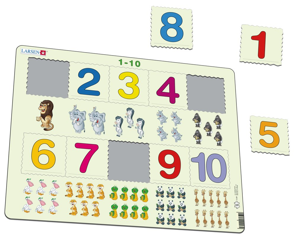 Matematika – Počítanie čísel od 1 do 10 – Matematické puzzle
