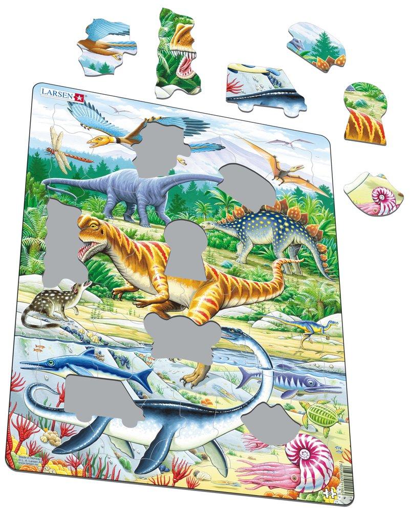 Zvieratá historické – Dinosaury, praveké jaštery, Jurský svet, druhohory, jura – Obrázkové puzzle