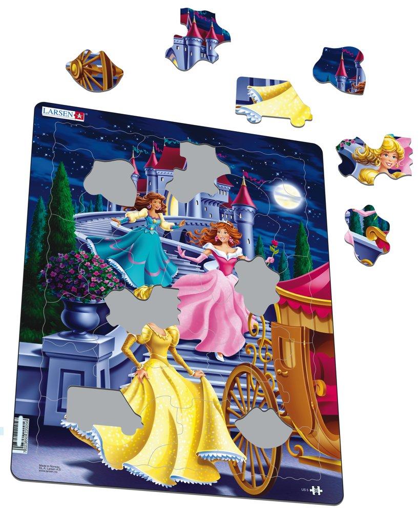 Rozprávky – Princezné v noci kráčajú dolu po schodoch a nastupujú do koča – Obrázkové puzzle