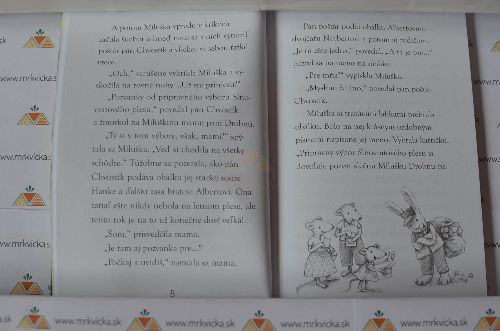 Zvončekový les: Plesové šaty myšky Milušky