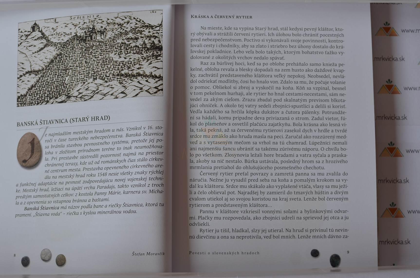 73221169e Mrkvicka.sk, povesti pre deti a mládež, Povesti o slovenských hradoch