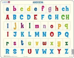 Abeceda – veľké a malé tlačené písmená abecedy – Puzzle učíme sa písmenká