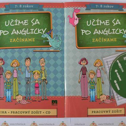 Angličtina pre deti - Učíme sa po anglicky - začíname + zošit + CD