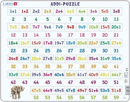 Matematika – Sčítavanie čísel od 1 do 60 – Matematické puzzle