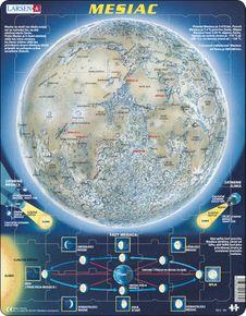 Astronómia, vesmír – Mesiac, povrch mesiaca na privrátenej strane, rotácia mesiaca – Náučné obrázkové puzzle