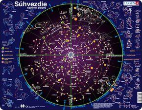 Astronómia, vesmír – súhvezdia severnej pologule na nočnej oblohe – Náučné obrázkové puzzle