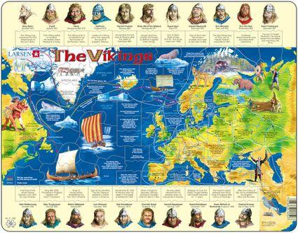 Dejepis – Vikingovia, Normani, Severania a ich história – Náučné obrázkové puzzle
