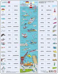 Angličtina, slovíčka – 08. Doprava na mori, lode, člny (s prídavnými menami) – Náučné puzzle, anglické slovíčka