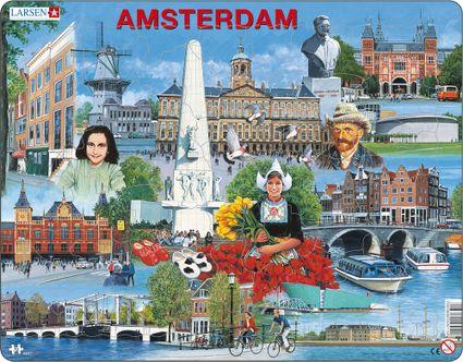 Turistické atrakcie – Amsterdam a jeho atrakcie, Amsterdamské historické pamiatky a zaujímavosti – Obrázkové puzzle