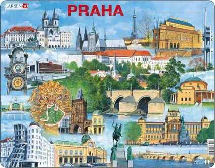 Turistické atrakcie – Praha a jej atrakcie, Pražské historické pamiatky a zaujímavosti – Obrázkové puzzle