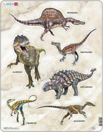 Zvieratá historické – Dinosaury, praveké jaštery – 5 malých puzzle v jednom – Obrázkové puzzle